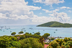 Harbour at St. Thomas Royalty Free Stock Photo