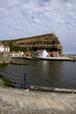 Harbour Staithes. Staithes is an English village at the most northerly point of the North Yorkshire coast Royalty Free Stock Photography
