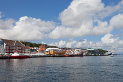 Harbour of Stavanger, Norway. Royalty Free Stock Photos