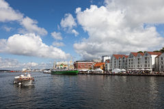 Harbour of Stavanger, Norway. Royalty Free Stock Photo