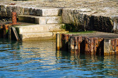 Harbour Steps - Lyme Regis Royalty Free Stock Image