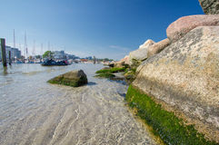 Harbour on the stoned coast of Baltic sea! Stock Photography