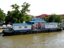 Harbour Sulina in a working day in Danube Delta, Tulcea, Romania Stock Photo