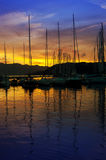 Harbour in the sunset Royalty Free Stock Images