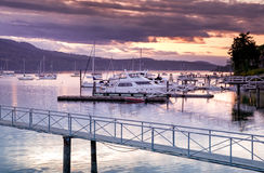 Harbour at sunset, Victoria, BC, Canada Royalty Free Stock Photo