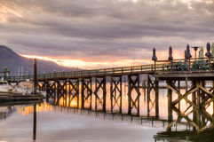 Harbour at sunset, Victoria, BC, Canada Royalty Free Stock Photography