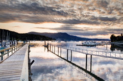 Harbour at sunset, Victoria, BC, Canada Stock Photo