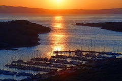 Harbour Sunset Stock Photography
