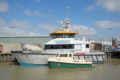Harbour support vessels Stock Photography