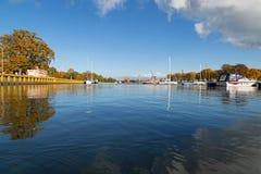 Harbour in Swinemünde Stock Images