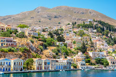 Harbour at Symi. Greece Royalty Free Stock Photos