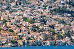 Harbour at Symi Island. Greece Stock Image