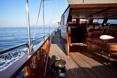 Sailing in the Mediterranean on a turkish Gulet Royalty Free Stock Photos