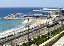 Harbour in Tarragona, Spain Royalty Free Stock Image