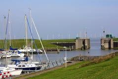 Harbour of Termunterzijl. Netherlands Stock Image