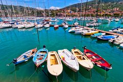 Harbour and town of Lerici in summer Stock Images