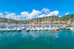 Harbour and town of Lerici in summer Royalty Free Stock Image