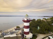 Harbour Town Lighthouse, Hilton Head Stock Photo