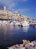 Harbour and town, Monte Carlo, Monaco. Stock Photos
