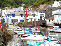 Harbour and town, Polperro, Cornwall. Royalty Free Stock Photo