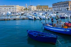The harbour. Trani. Apulia. Italy stock images