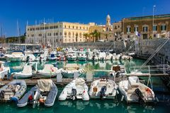 The harbour. Trani. Apulia. Italy royalty free stock image