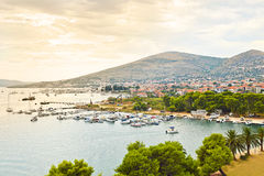 Harbour in Trogir, Croatia Royalty Free Stock Photography
