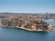 Harbour of Valetta, Malta. View to  harbour of Valetta city, Malta Stock Photography