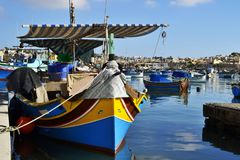 The harbour of the Valletta, Malta royalty free stock photos