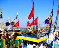 Harbour in Vanakbara / India Royalty Free Stock Photos