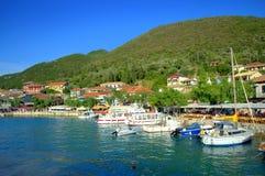 Harbour of Vasiliki Greece Stock Photos