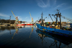 Harbour vessels Stock Images