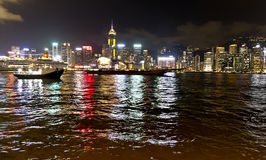 Harbour View da noite em Hong Kong Imagem de Stock Royalty Free