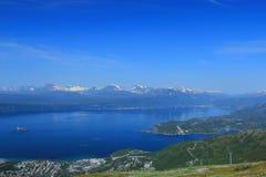 Harbour View di Narvik Immagini Stock Libere da Diritti