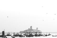Harbour. View of the harbour of Mumbai City India Stock Photography