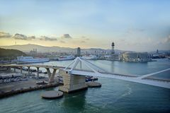Free Harbour View Of Barcelona Royalty Free Stock Photos - 123167098