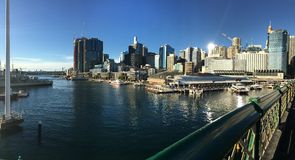Harbour view from Pyrmont Bridge Royalty Free Stock Photo