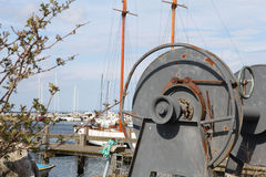 Harbour View With Reel. Reet Used To Haul Boats Ashore Stock Image