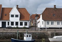 Harbour view in Ribe Stock Image