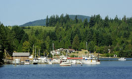 Sechelt Inlet Marina. View of a working marina on Sechelt Inlet, BC Stock Photos