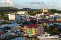 Harbour view of St john`s, Antigua and Barbuda royalty free stock photos