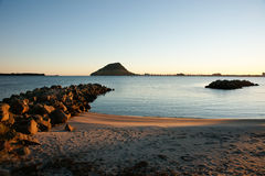 Harbour view to Mount Maunganui. Stock Photography