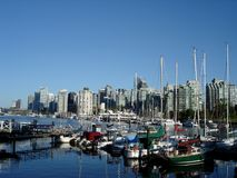 Harbour View in Vancouver Royalty Free Stock Photos