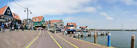 Harbour view of Volendam, Netherlands Royalty Free Stock Images