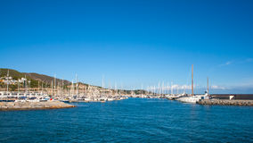 Harbour views. Harbour in a shinny day and blue sky Royalty Free Stock Photo
