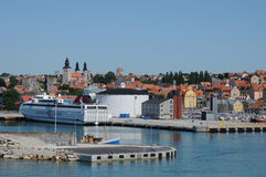 Harbour of Visby in Gotland Stock Photography