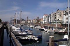 Harbour of Vlissingen. Yachts in Vlissingen harbour, Netherlands Stock Photos