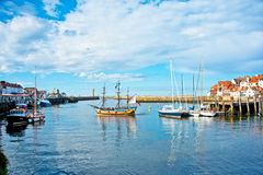 The Harbour at Whitby Stock Image