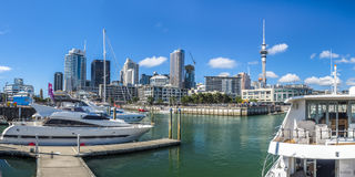 Harbour With Skyline Of Auckland In New Zealand Royalty Free Stock Images