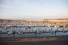 Harbour with yachts at IJmuiden in the netherlands Stock Image